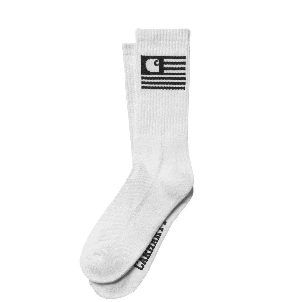 Carhartt W.I.P. STATE SOCKS White/Black