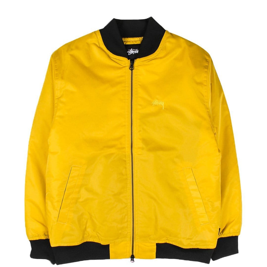 Stussy FLIGHT SATIN BOMBER JACKET Mustard
