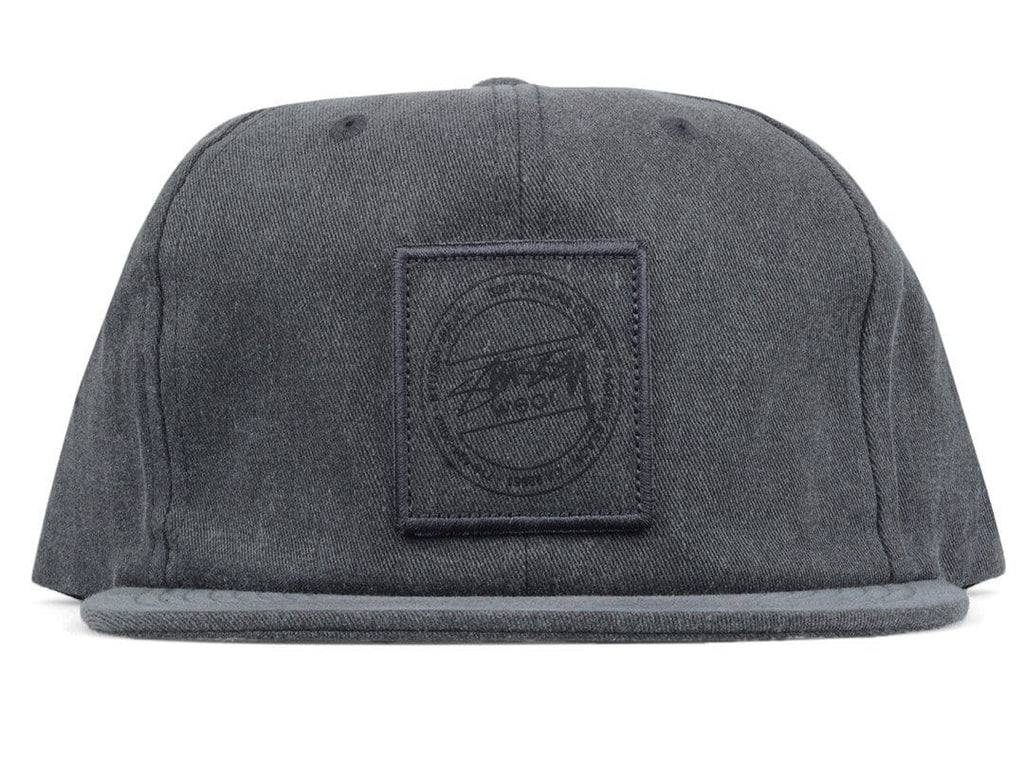 Stussy WASHED TWILL STRAPBACK CAP Black