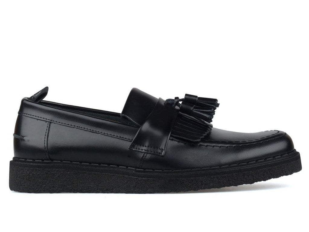 Fred Perry X GEORGE COX TASSEL LOAFER Black