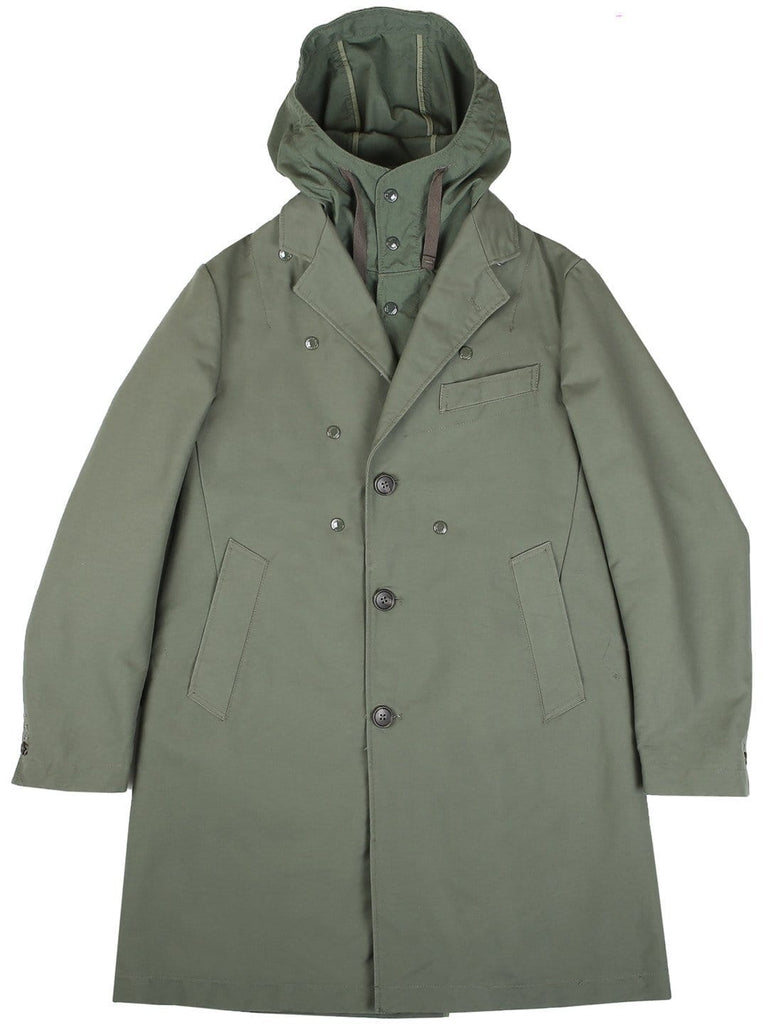 Engineered Garments CHESTER COAT Olive Cotton Double Cloth
