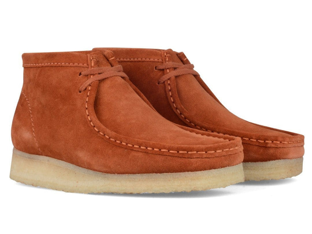 Clarks WALLABEE BOOT Rust Vintage Suede
