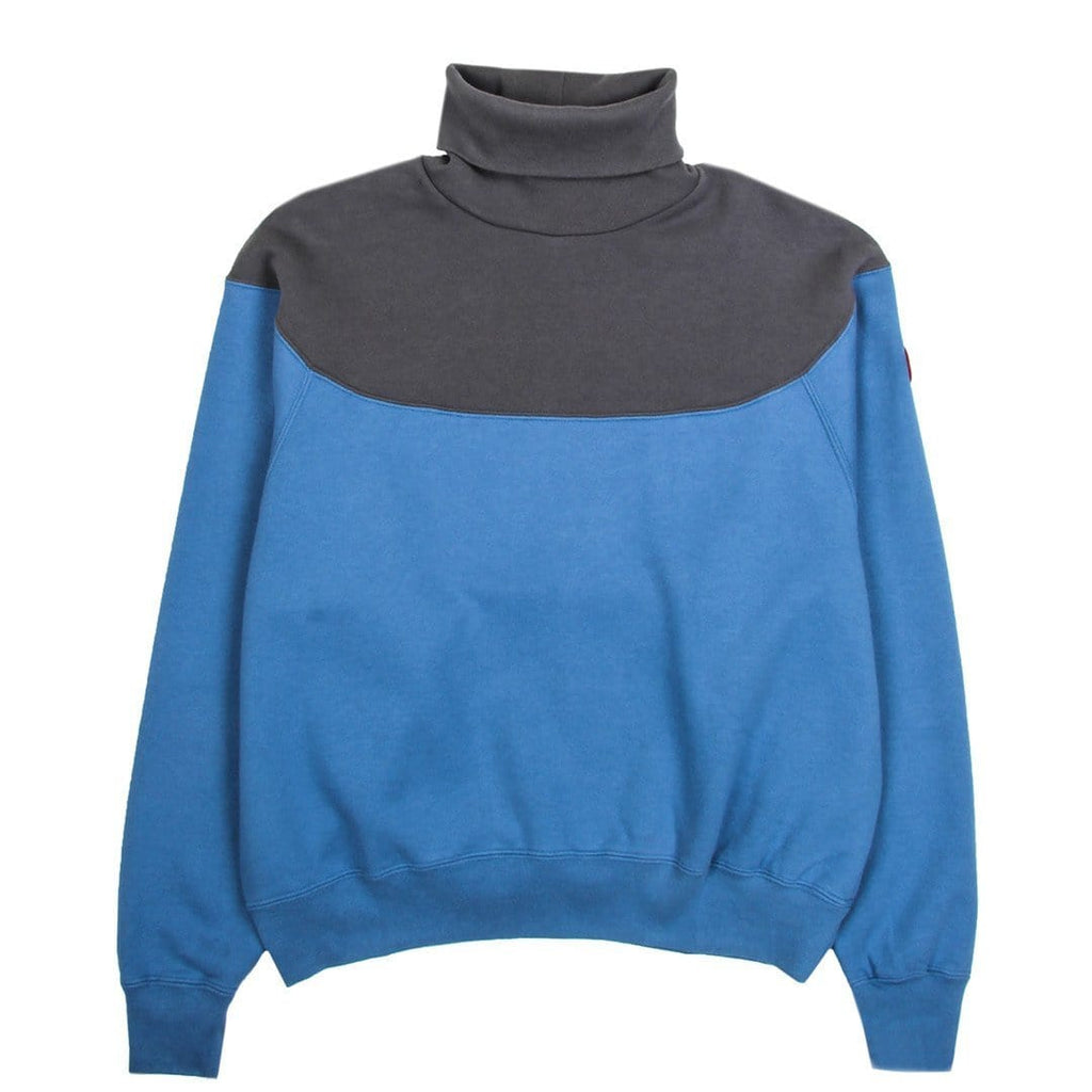 Cav Empt TURTLE NECK SWEAT #3 Blue/Grey