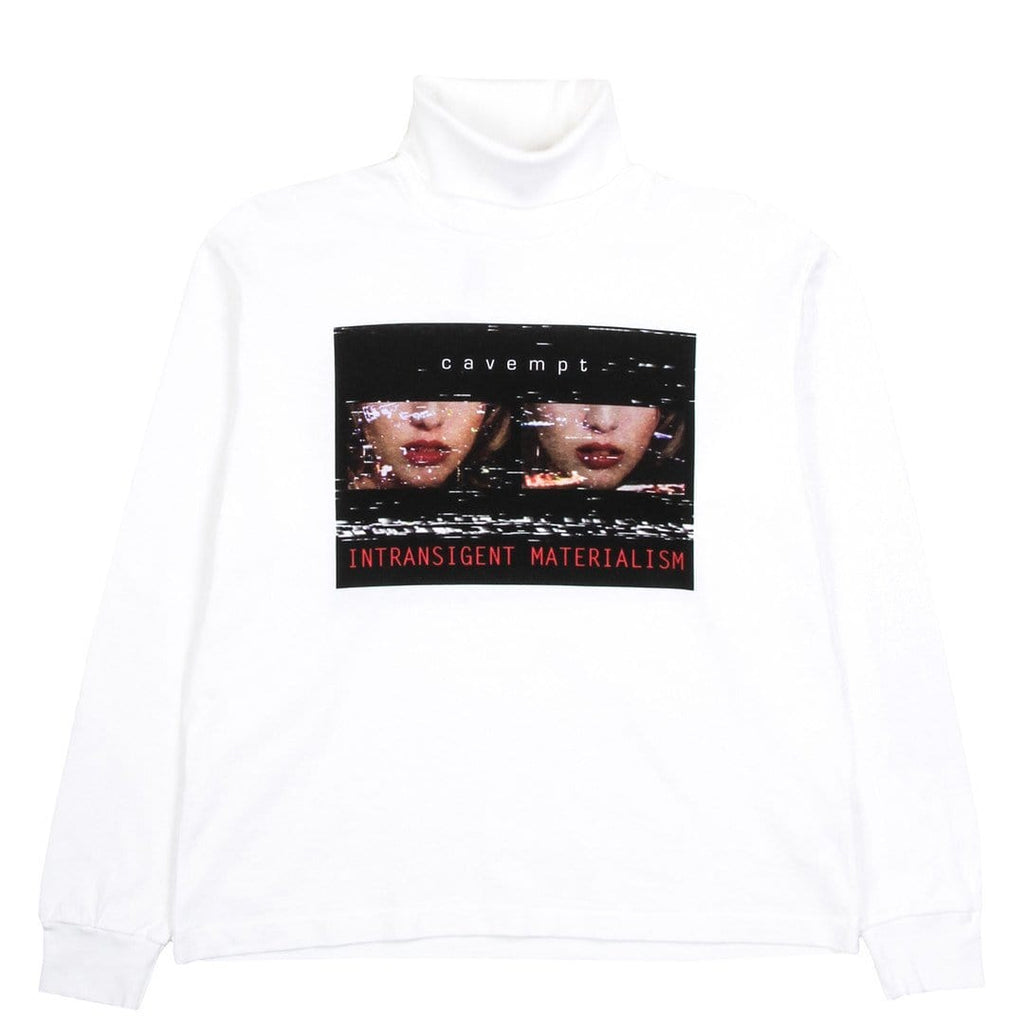 Cav Empt TURTLE NECK LONG SLEEVE T White