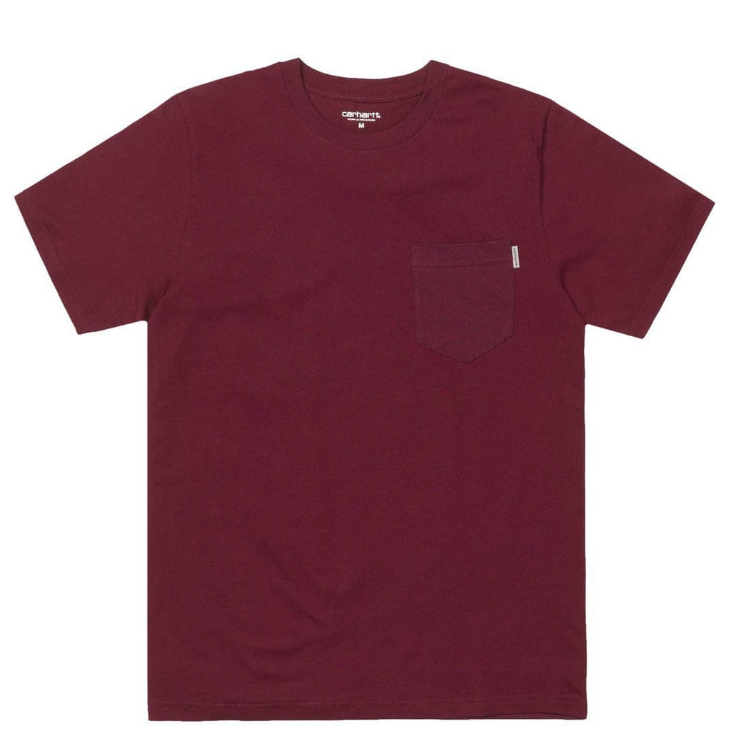 Carhartt W.I.P. S/S CONTRAST POCKET T-SHIRT Chianti/Chianti Heather