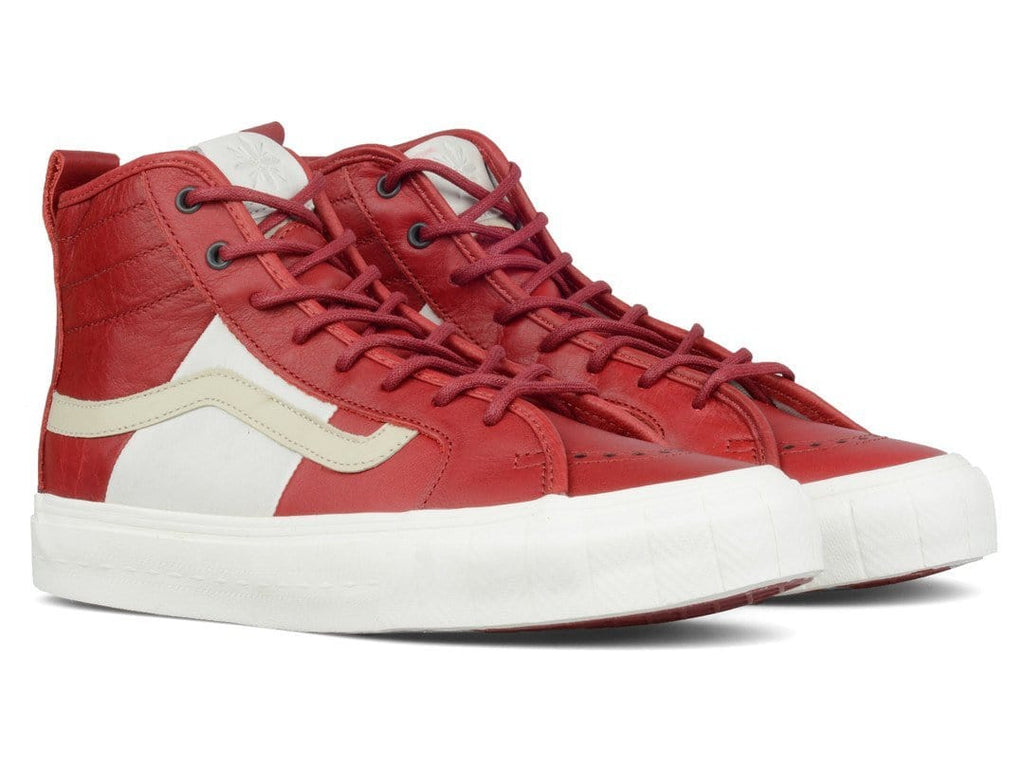 Vans Vault x TH COURT HI LX (PRM LEATHER) Red Dahlia
