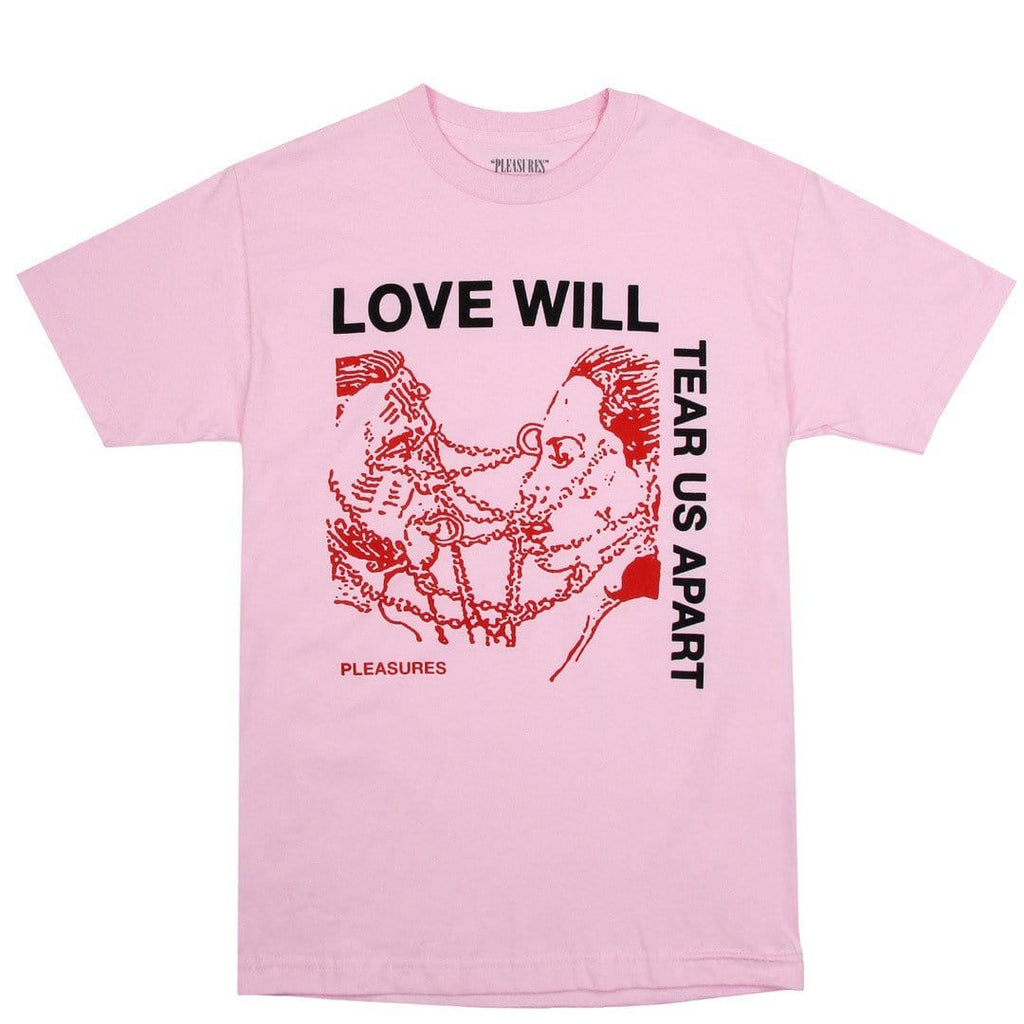 Pleasures x Bodega Love Tear Tee Pink