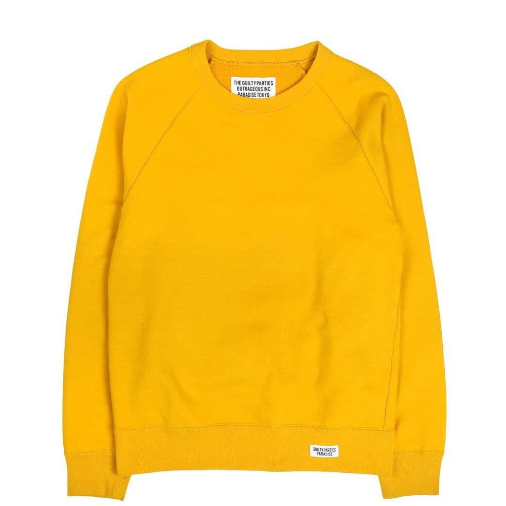 Wacko Maria MIDDLEWEIGHT CREW-NECK SWEAT SHIRT ( TYPE-5 ) Yellow