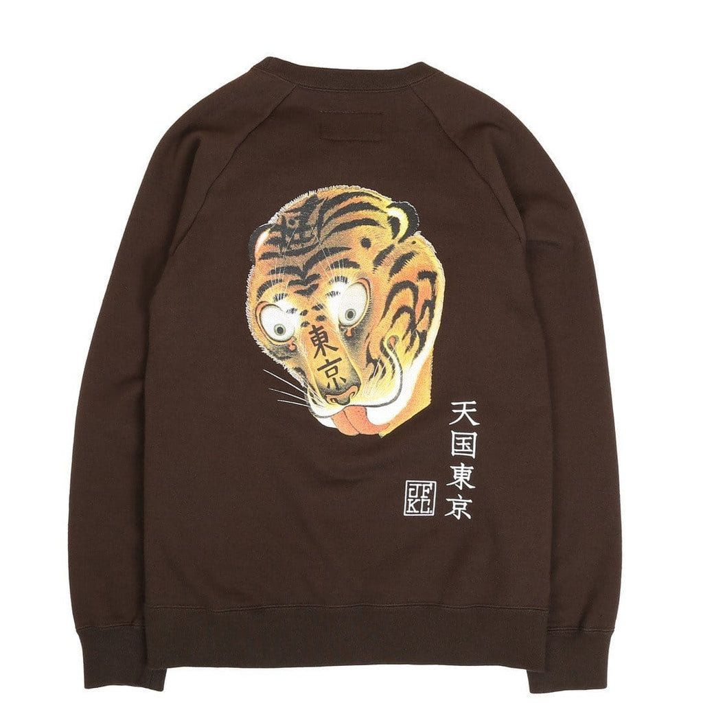 Wacko Maria MIDDLEWEIGHT CREW-NECK SWEAT SHIRT ( TYPE-5 ) Brown