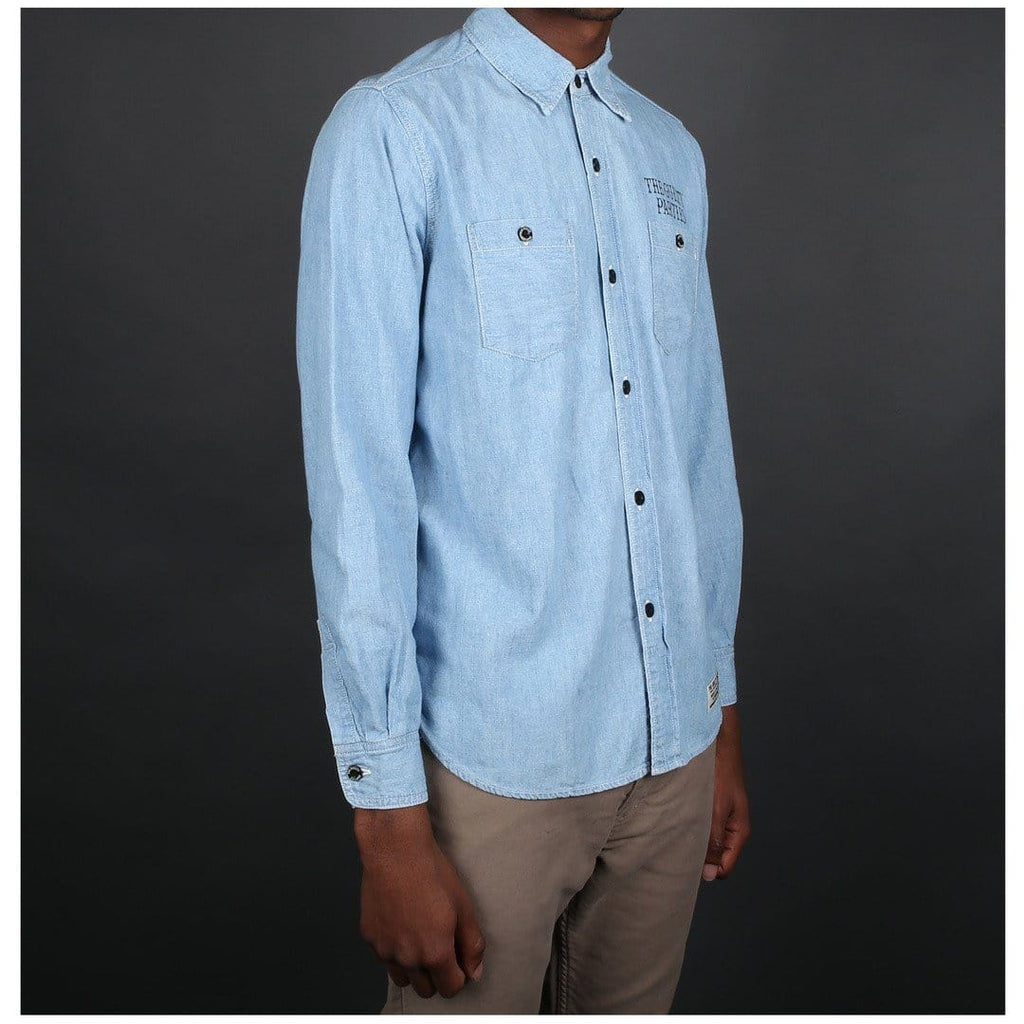 Wacko Maria CLASSIC CHAMBRAY WORK SHIRT ( TYPE-5 ) Light Blue