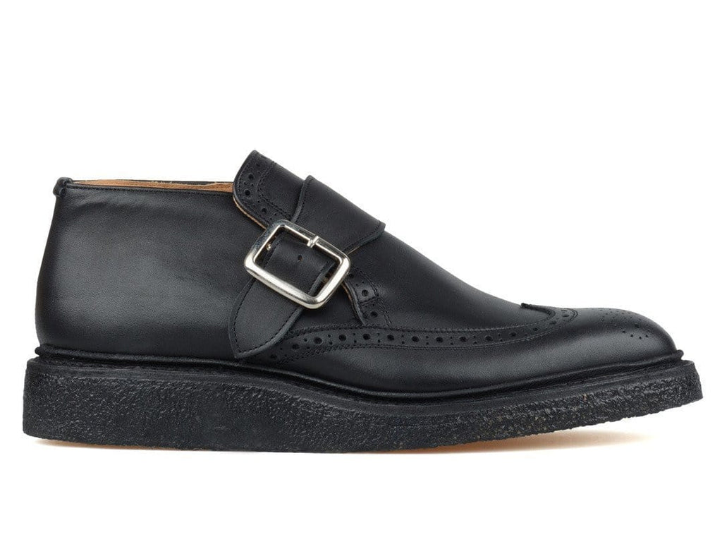 Nonnative × TRICKER'S STRAP BUCKLE ANKLE SHOES Black