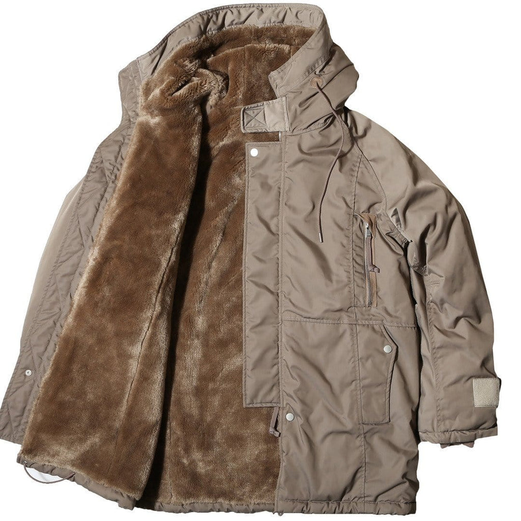 Nonnative TROOPER HOODED BOA COAT POLY TWILL DICROS SOLO Taupe