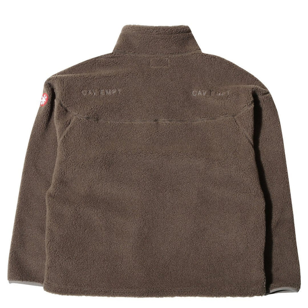 Cav Empt HEAVY FLEECE HALF ZIP Brown