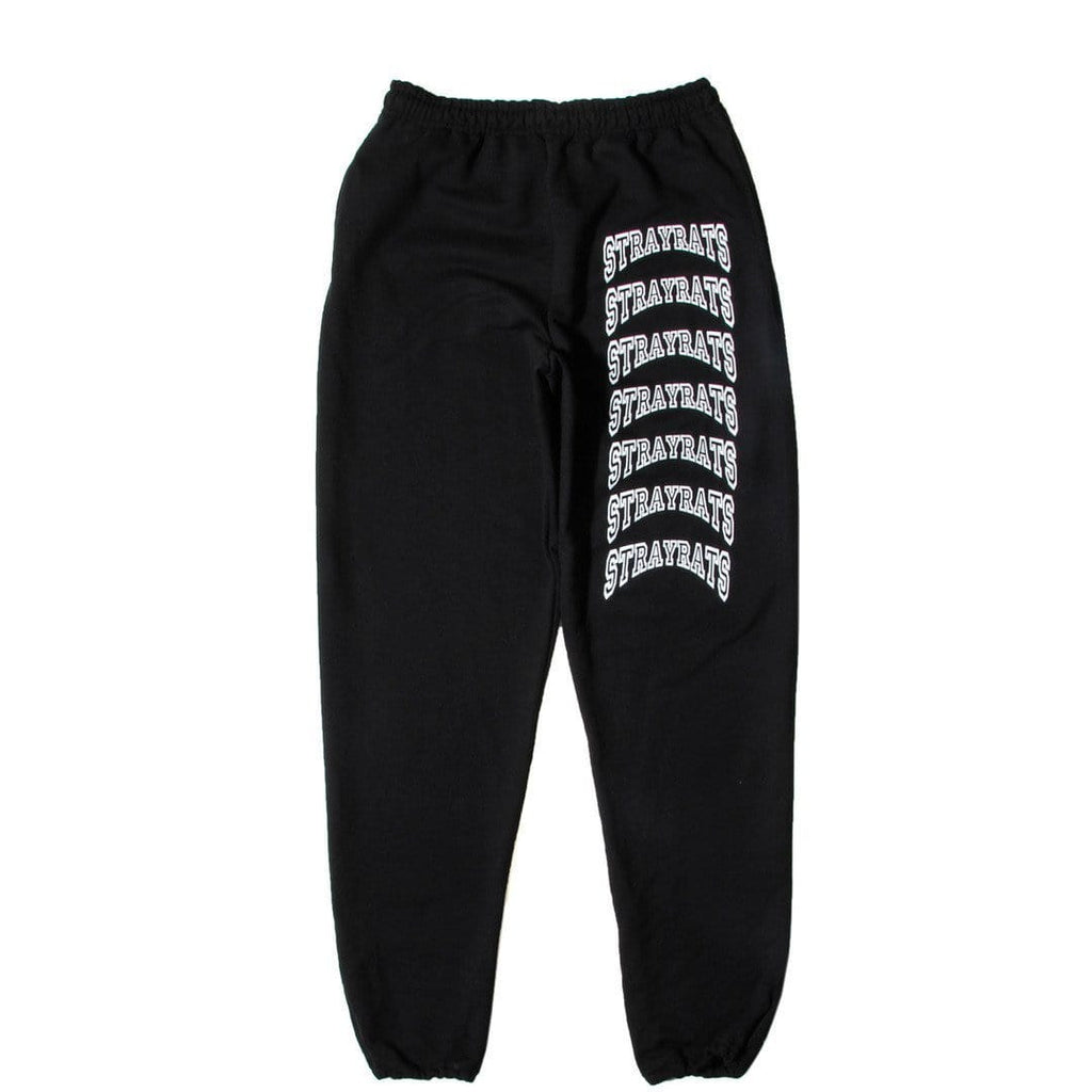 Stray Rats COLLEGIATE SWEATPANT Black