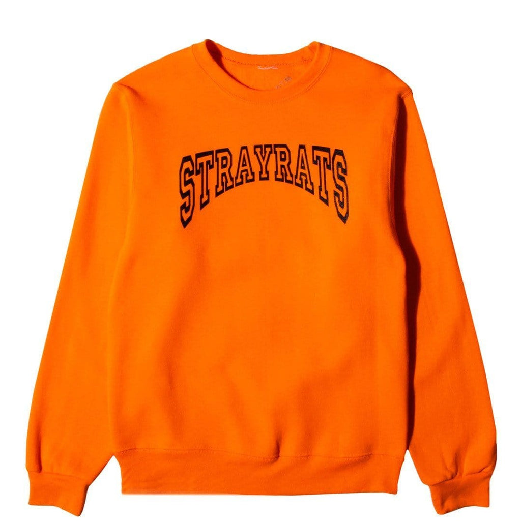Stray Rats COLLEGIATE CREWNECK Safety Orange