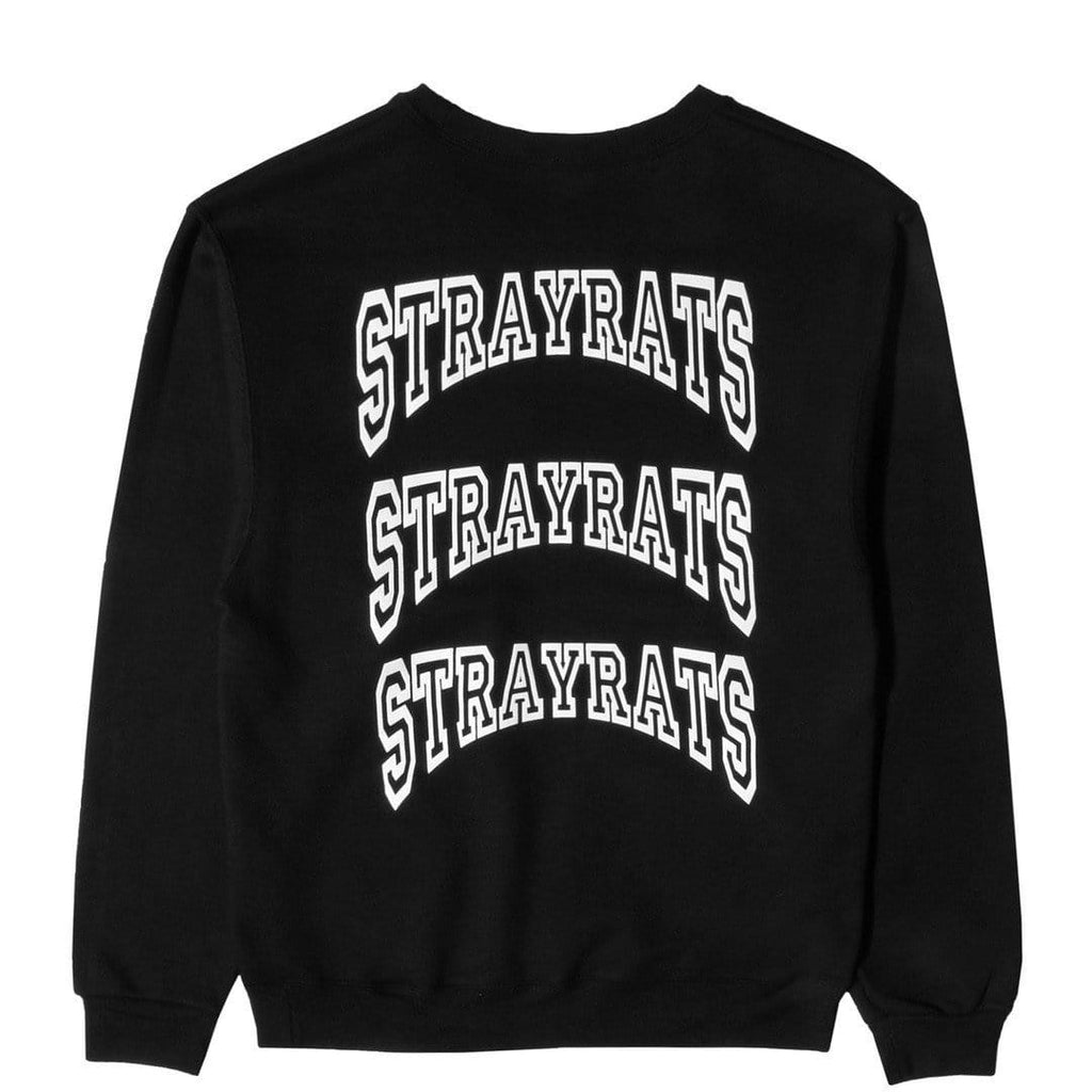 Stray Rats COLLEGIATE CREWNECK Black