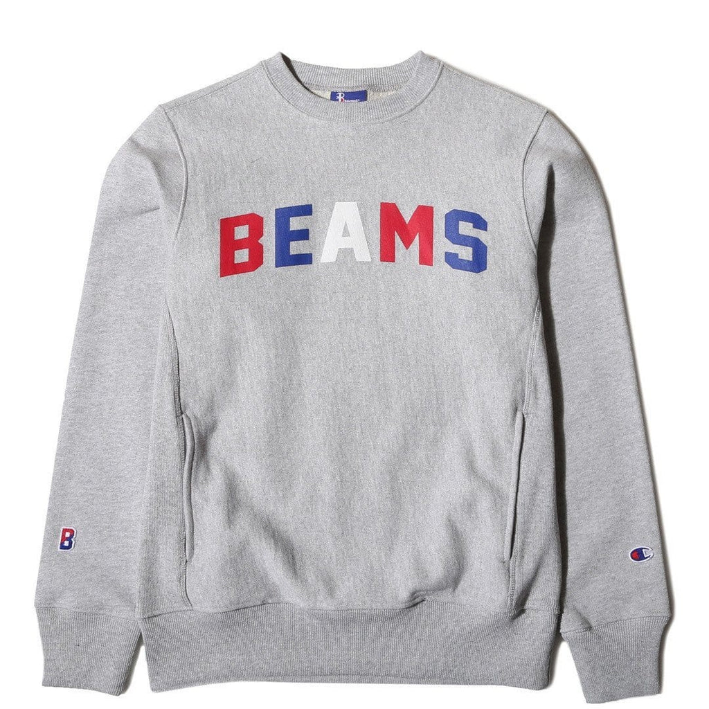 Champion X BEAMS CREWNECK SWEATSHIRT Grey