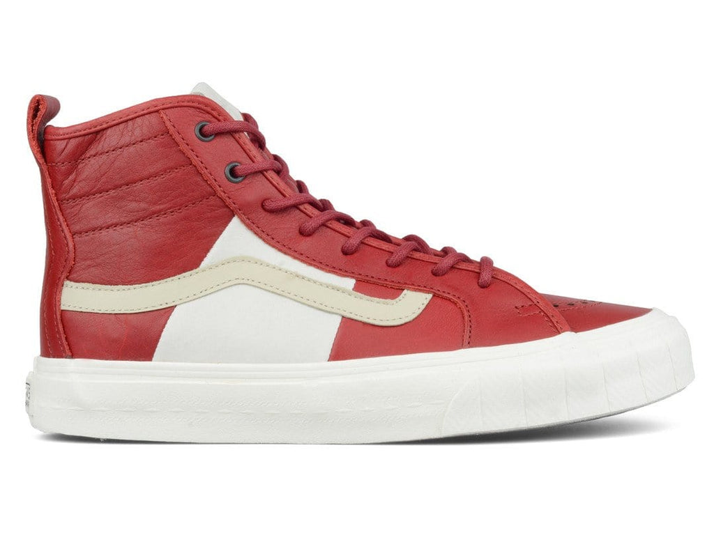 Vans Vault TH COURT HI LX (PRM LEATHER) Red Dahlia