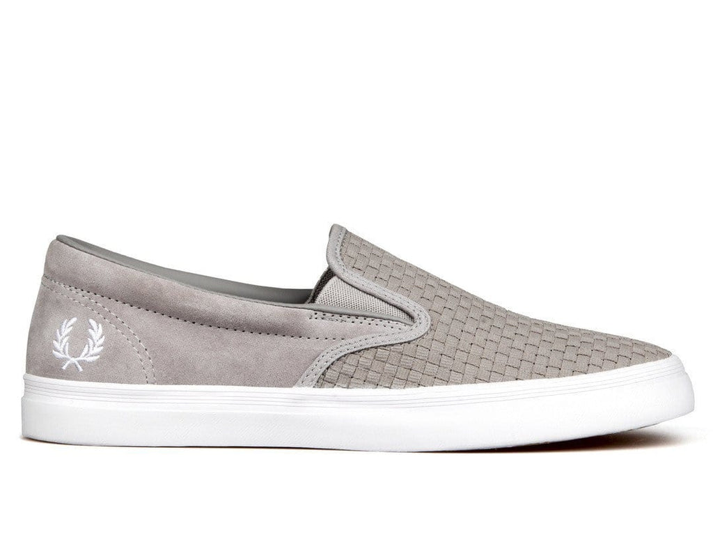 Fred Perry UNDERSPIN SLIP ON CHECKER/SUE Silver