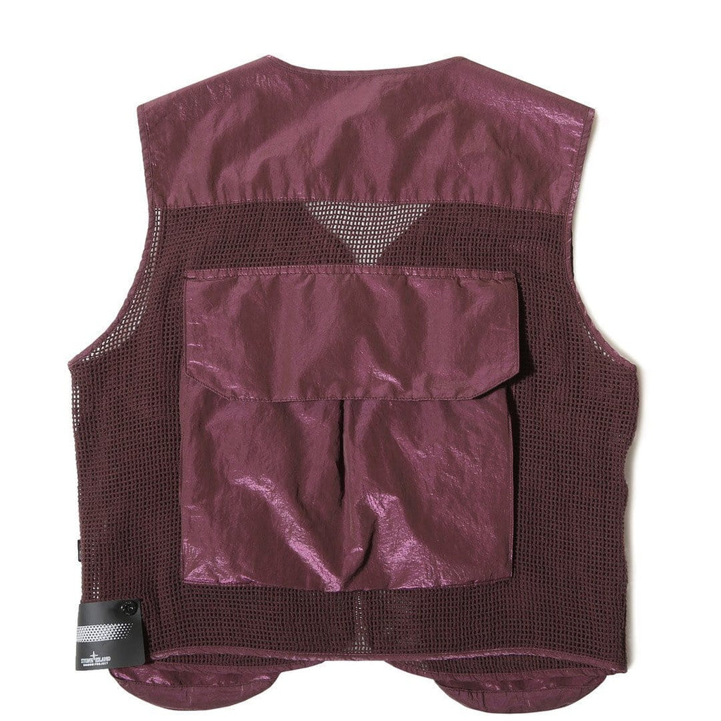Stone Island Shadow Project GILET VEST Burgundy