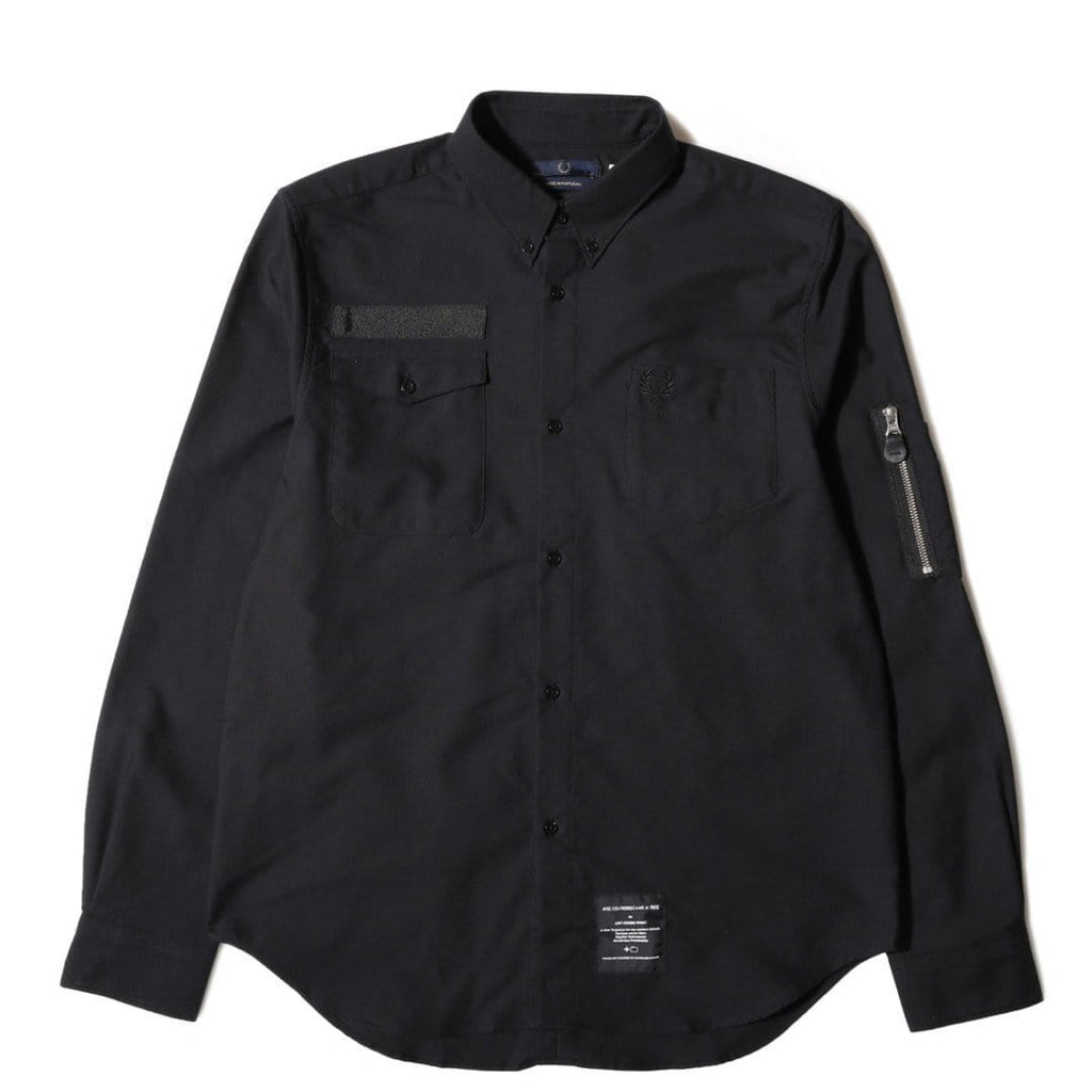 Fred Perry POCKET DETAIL OXFORD SHIRT Black