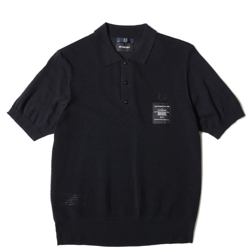 Fred Perry Art Comes First TUCK KNIT FP SHIRT Navy