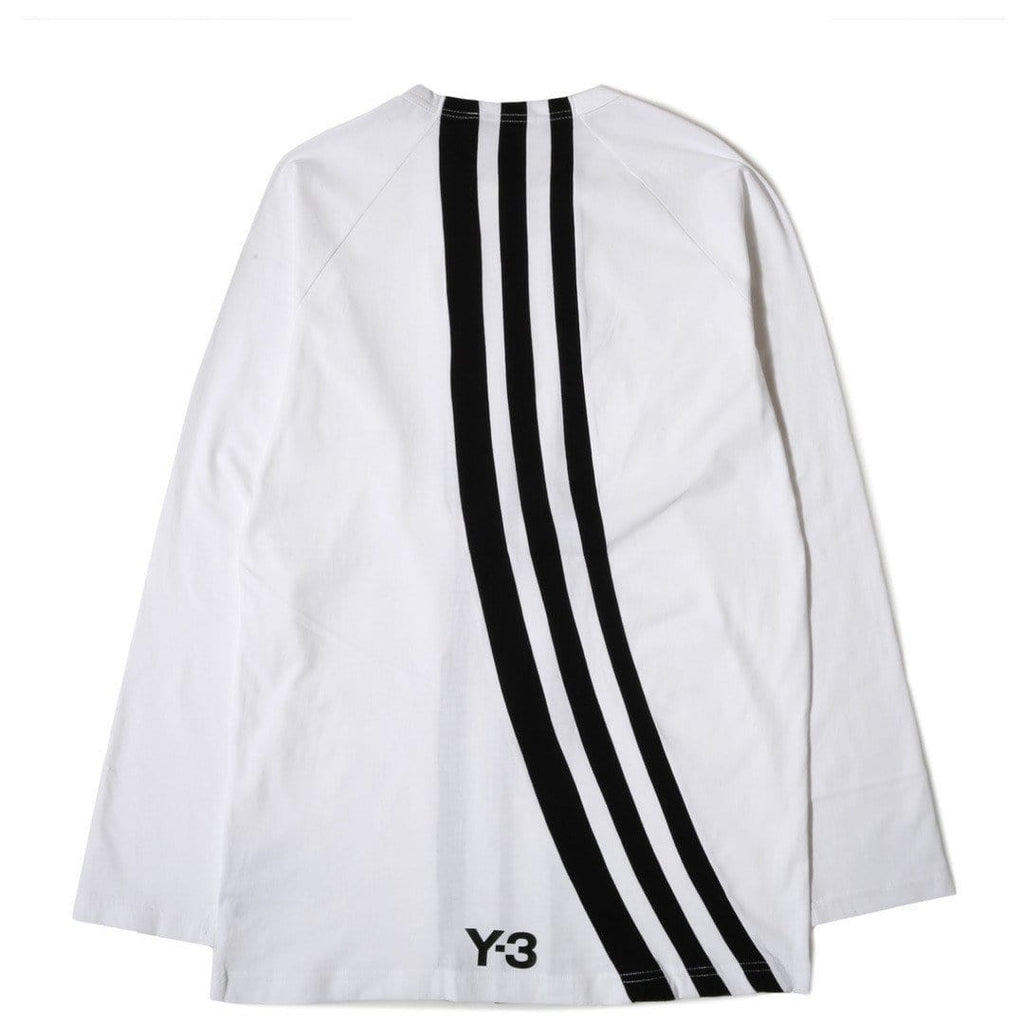Adidas Y-3 3 Stripes L/S Tee White