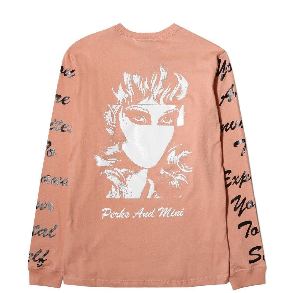 Perks and Mini TOTAL SELF L/S T-SHIRT Coral