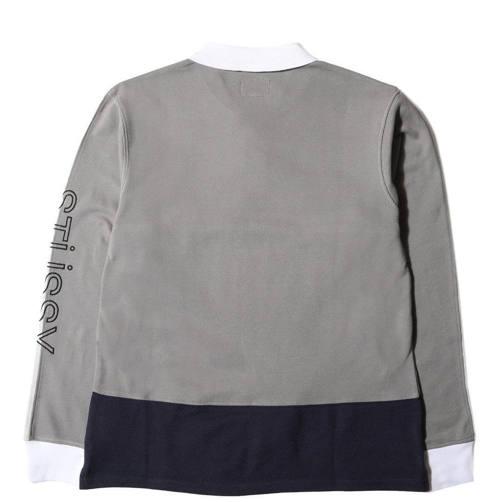 Stussy PANEL PIQUE L/SL POLO Grey