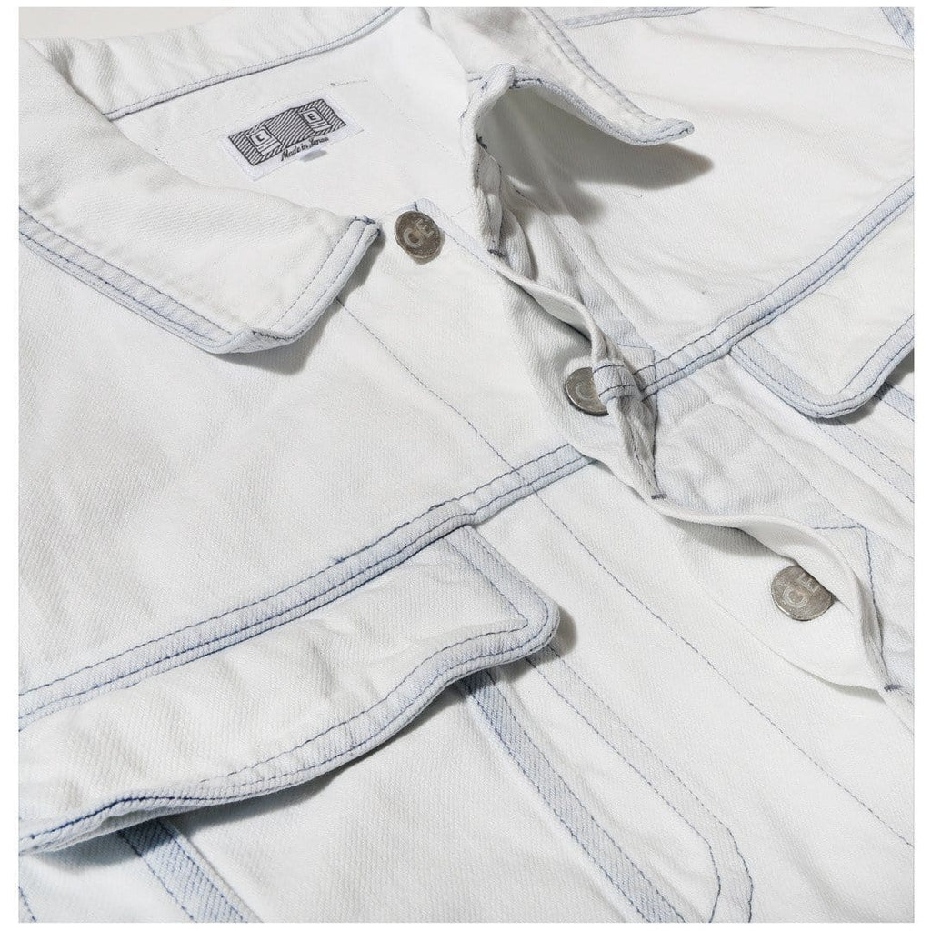 Cav Empt BLEACHED DENIM JACKET White