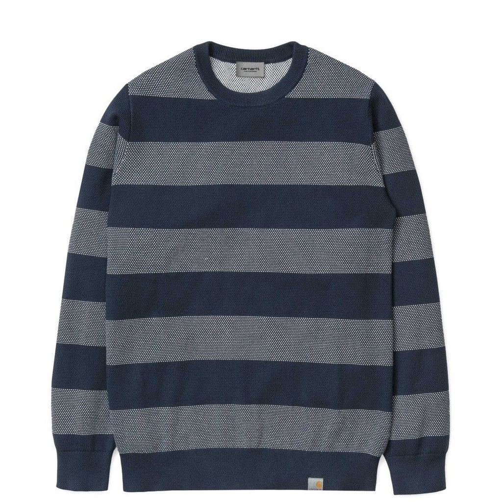 Carhartt W.I.P. ATLANTIC SWEATER Navy/White
