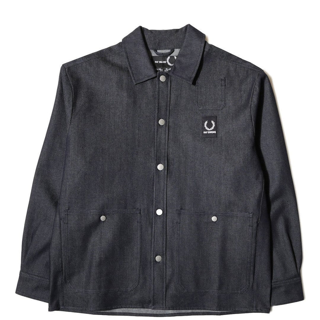 Fred Perry x Raf Simons DENIM SHIRT JACKET Dark Indigo