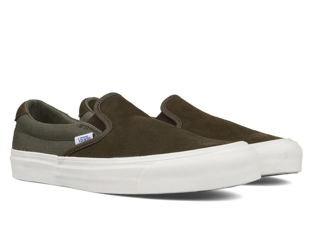 Vans Yellow Suede OG 59 LX Slip-On Sneakers tI02FDjqC6