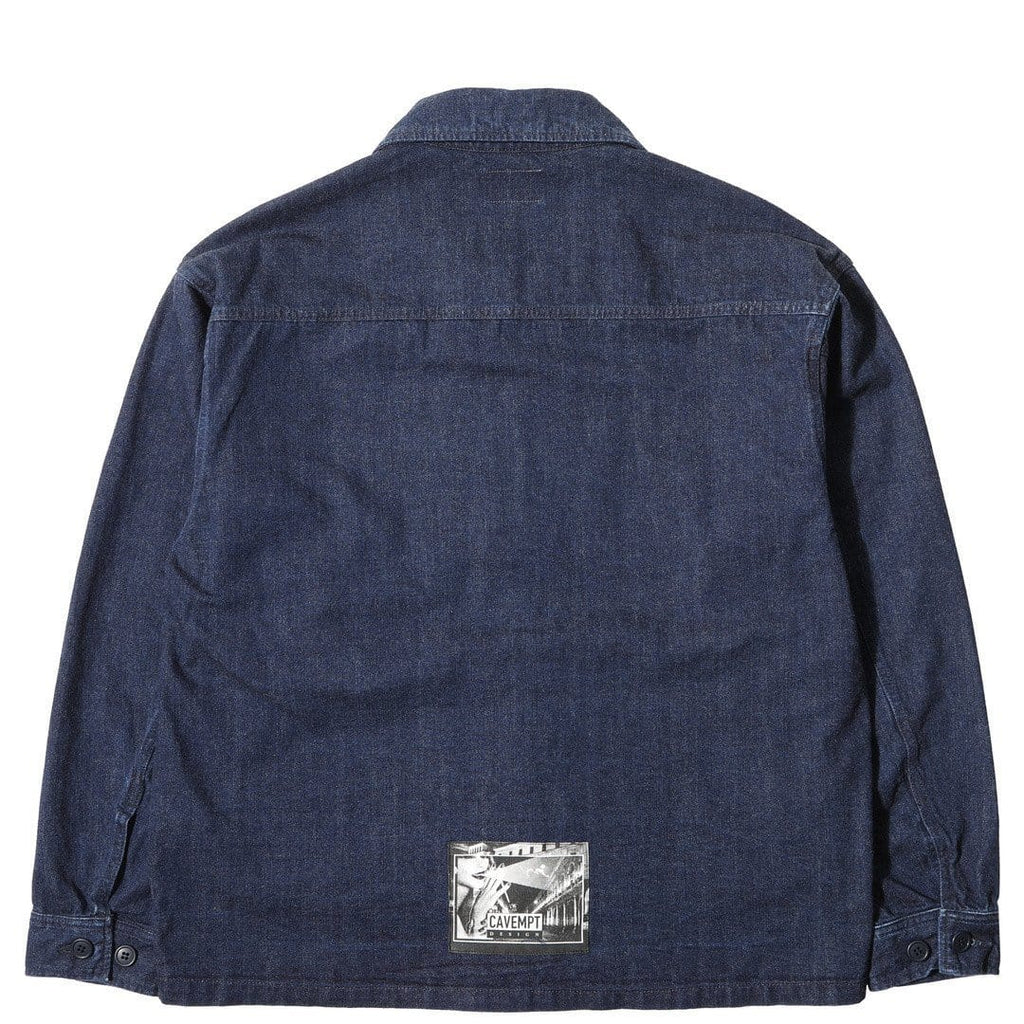 Cav Empt LIGHT BUTTON UP JACKET Navy