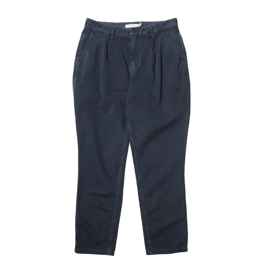 Nonnative CLERK ANKLE CUT TROUSERS RELAX FIT Deep Sea