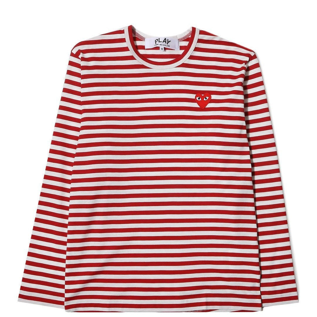 Comme des Garcons Play Striped T-Shirt Red/White