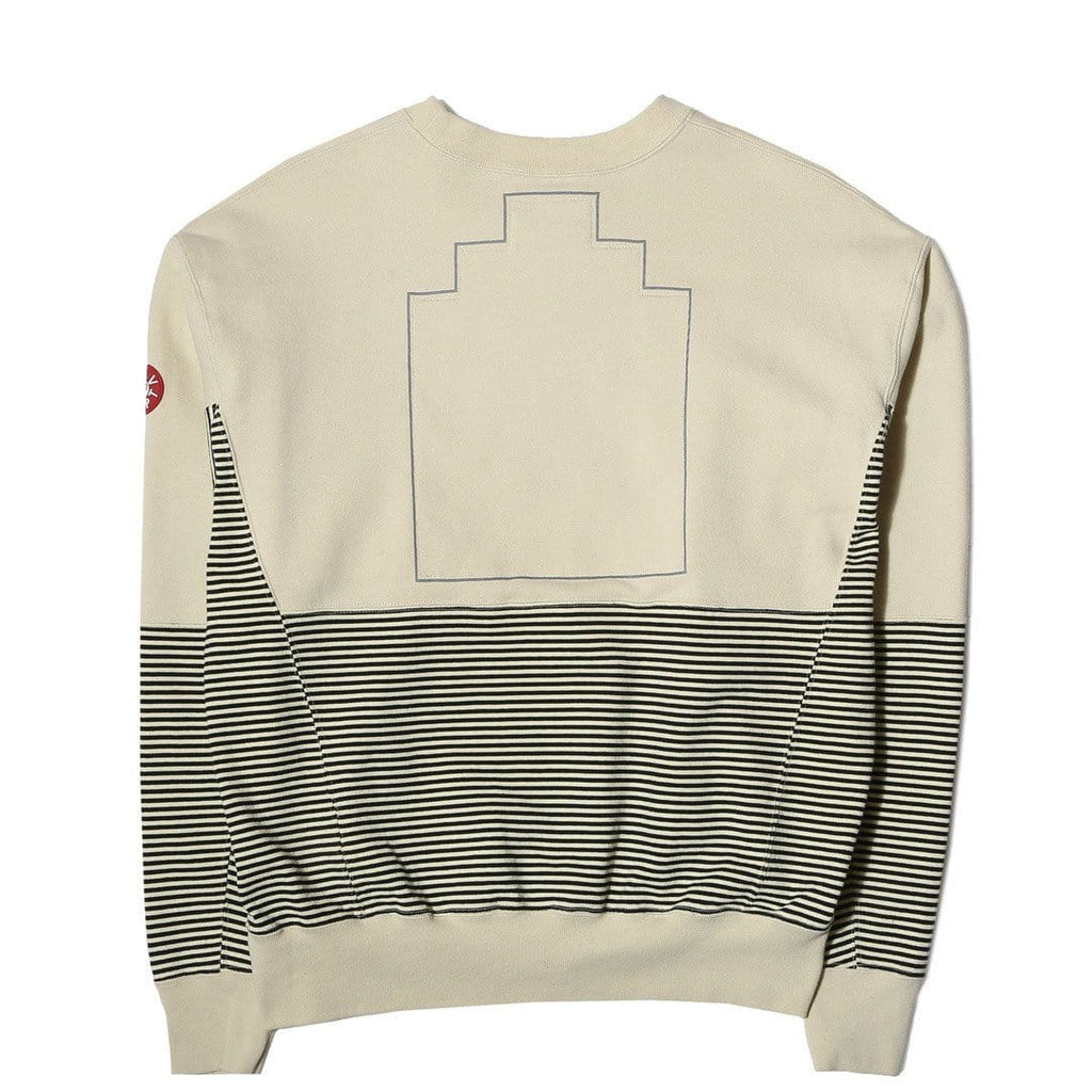 Cav Empt STRIPE PANEL SWEAT Light Yellow