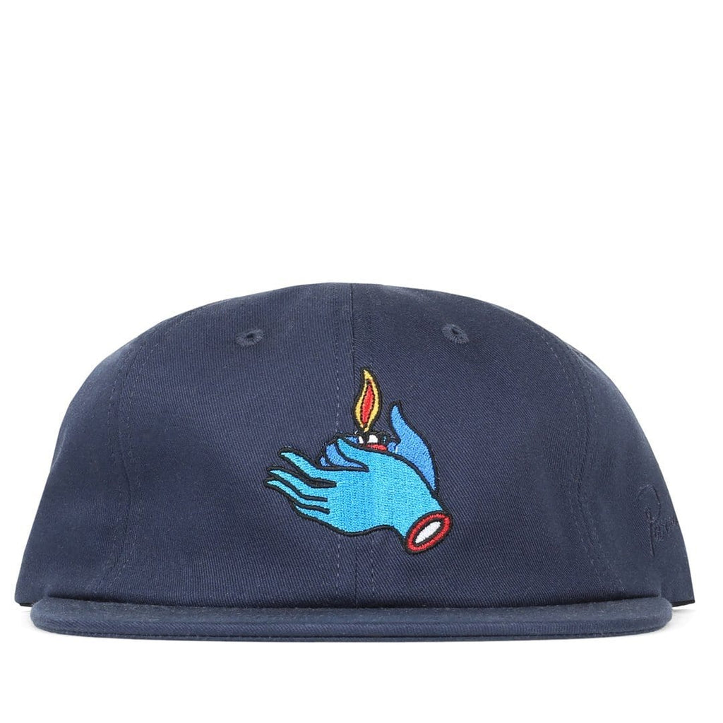 Rockwell By Parra 6 PANEL HAT FLAME HOLDER Stonewash Navy