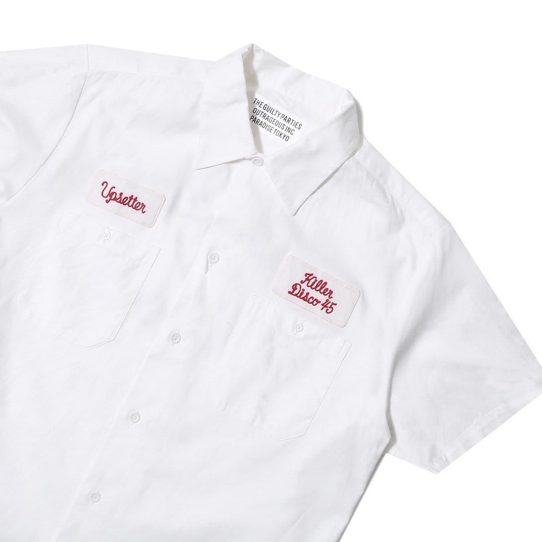 Wacko Maria Shirts TWILL WORK SHIRT  S/S (TYPE-2)
