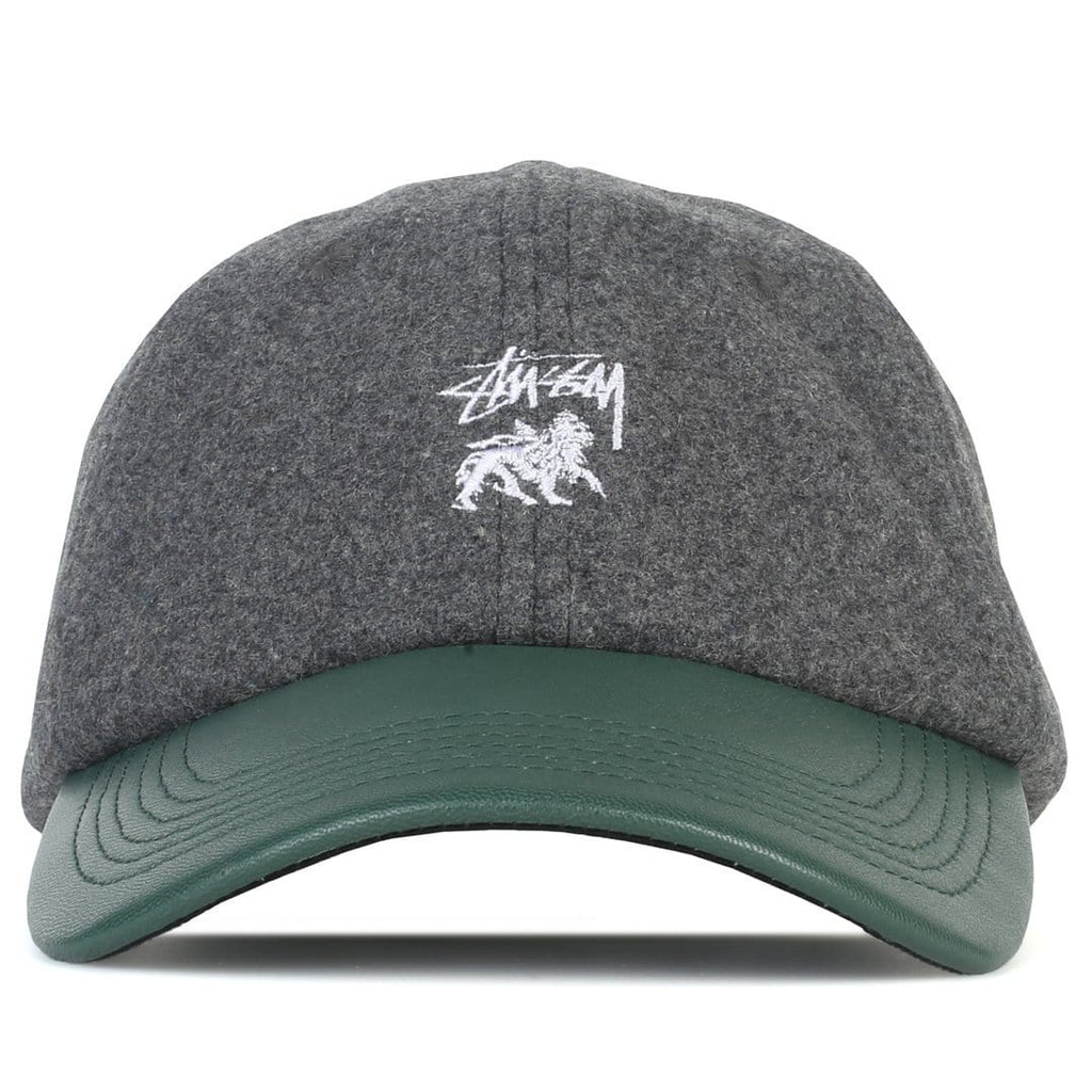 Stussy LEATHER VISOR LOW PRO CAP Charcoal