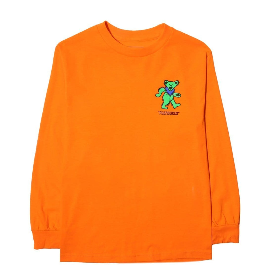 Pleasures BEAR LONG SLEEVE T SHIRT Orange