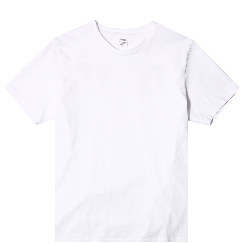Wacko Maria CREW NECK COLOR T-SHIRT (TYPE-4) White