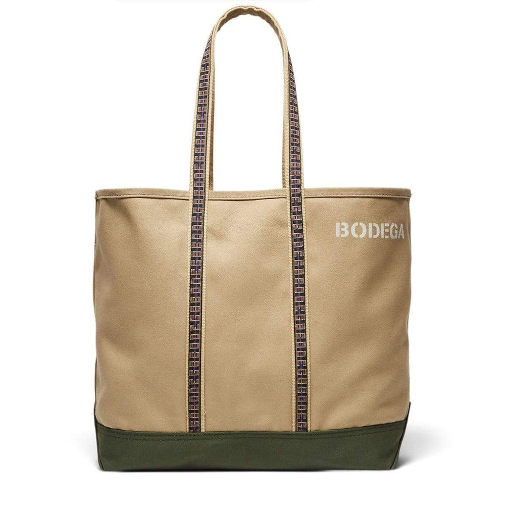 Bodega  Bags & Accessories BEIGE/OLIVE / O/S CANVAS TOTE