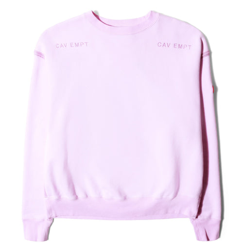 Cav Empt DISAPPEARANCE CREW NECK Pink