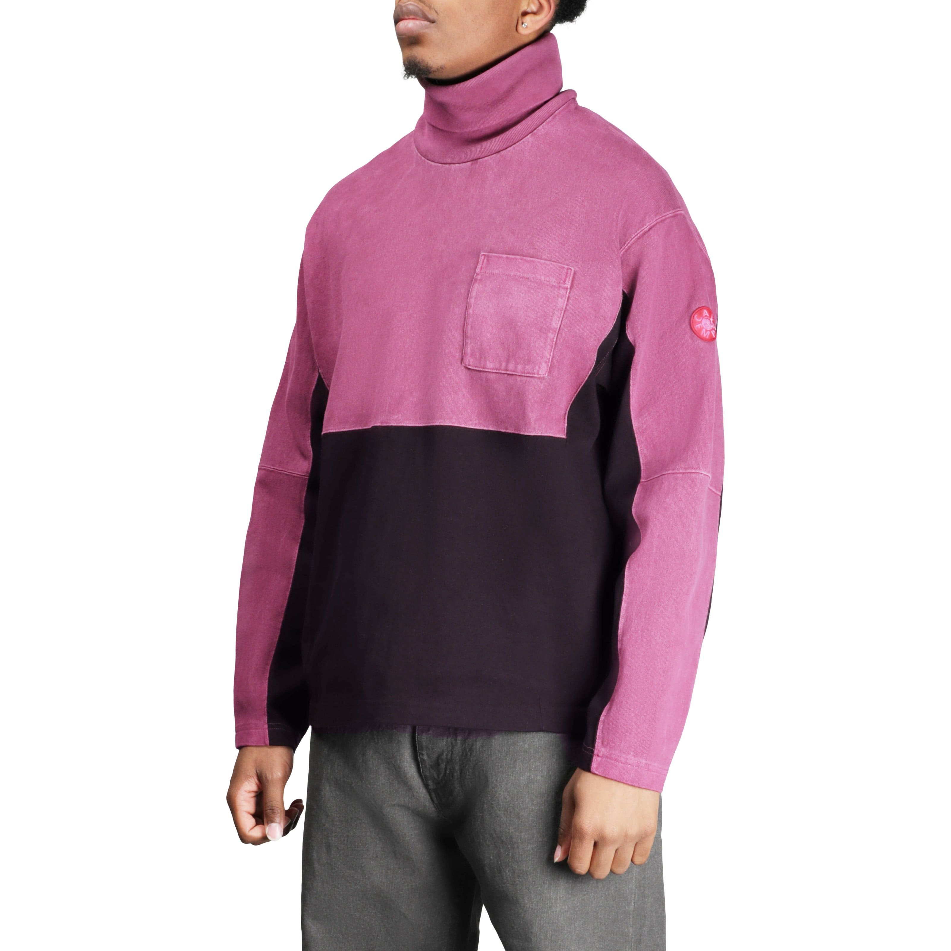 Cav Empt T-Shirts OVERDYE TURTLE NECK LONG SLEEVE T