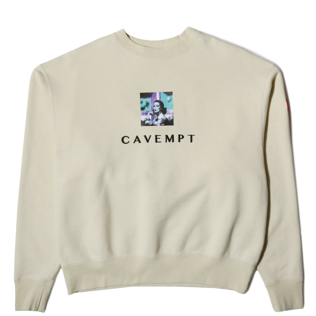 CAVEMPT EMBROIDERY CREW NECK Yellow