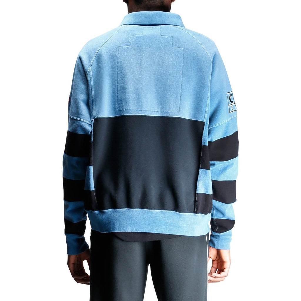 Cav Empt STRIPE COLLARED SWEAT Blue