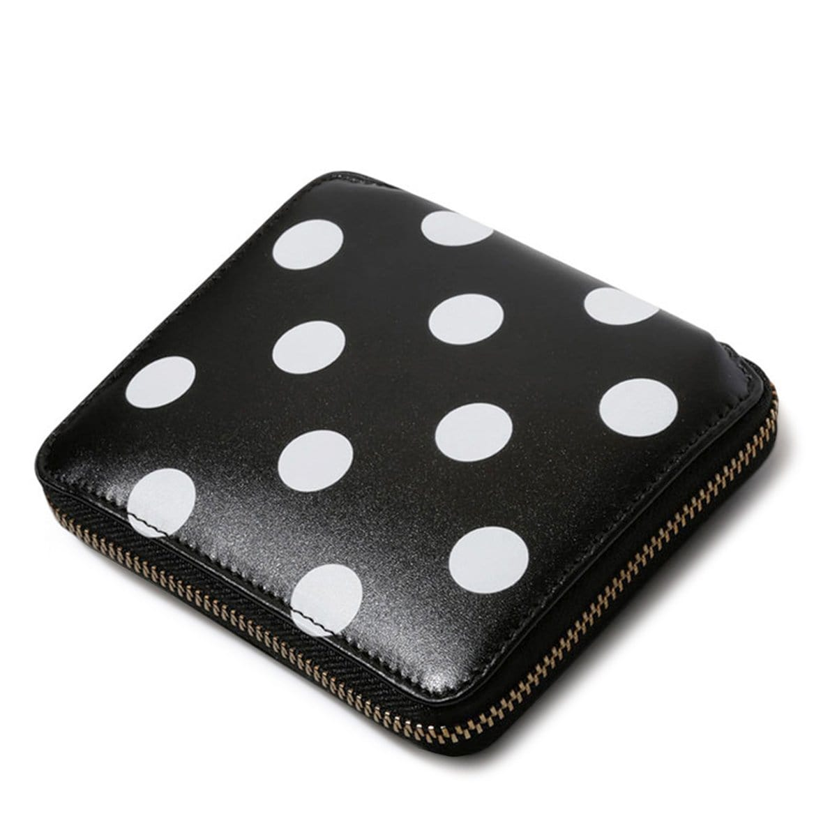 Comme Des Garçons Wallet Bags & Accessories BLACK / O/S DOTS PRINTED LEATHER LINE
