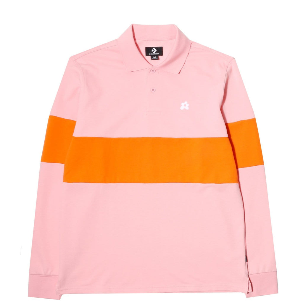 Converse Golf Le Fleur LONG SLEEVE POLO Candy Pink/Orange Peel : new at Bodega