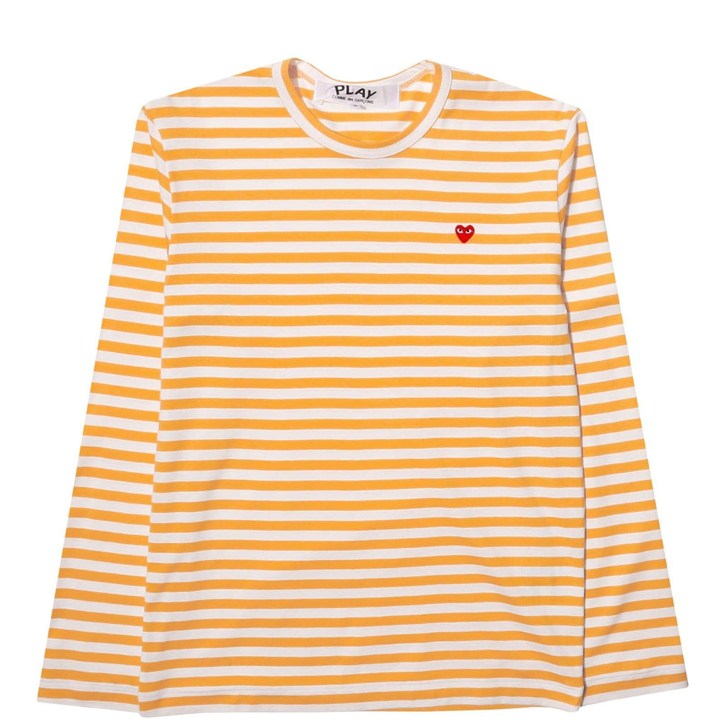 Comme des Garcons PLAY STRIPED T SHIRT LS Yellow